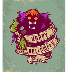 halloween monster vector image