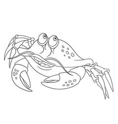 Cute funny crab vector