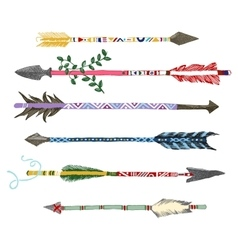 Hand drawn arrows in tribal style vector