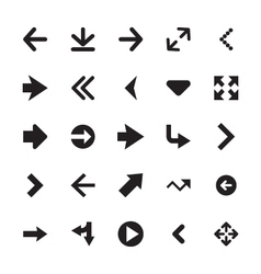 Mini arrows icons 2 vector