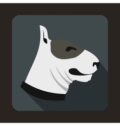 Bull terrier dog icon flat style vector