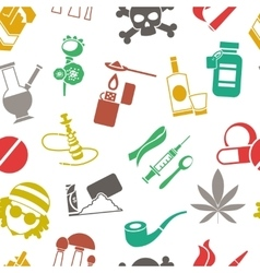 Flat drugs pattern vector