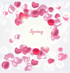 abstract background with falling petals vector image vector image