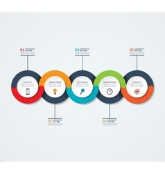 Abstract infographic template with 5 options vector