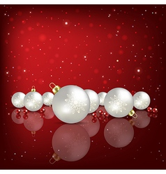 Abstract red background with white Christmas vector image