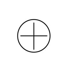 add button icon vector image