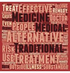 Are Alternative Medicines Effective text vector image