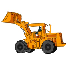 Back hoe vector