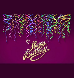 birthday greeting card with place for your text - vector image