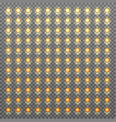 bulbs gradient background vector image vector image