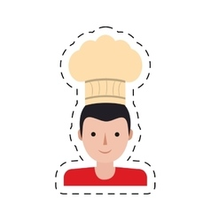 Character delivery man hat chef restaurant cut vector