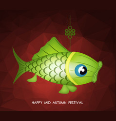 chinese mid autumn festival polygonal background vector image vector image