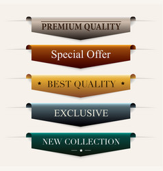 Collection of premium promo sealsstickers vector