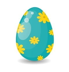 Color easter egg cartoon spring decoration and vector image vector image