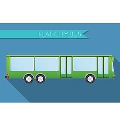 Flat design city Transportation city bus side view vector image