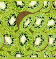 hand-drawn seamless background with kiwi fruit vector image vector image