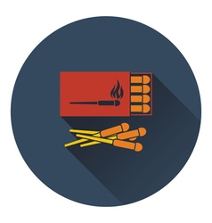 Icon of match box vector image vector image