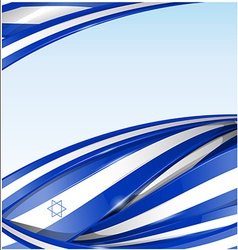 israel flag background vector image vector image