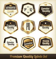 Label Set vector image vector image