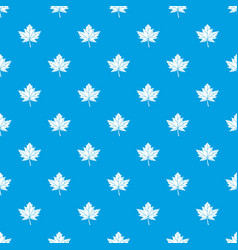maple leaf pattern seamless blue vector image