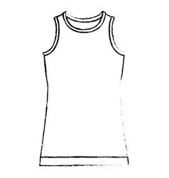 monochrome blurred silhouette of t-shirt without vector image
