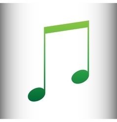 Music sign green gradient icon vector