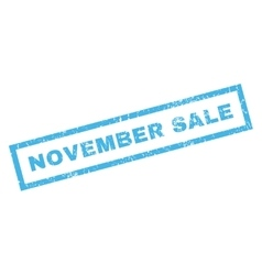 November sale rubber stamp vector