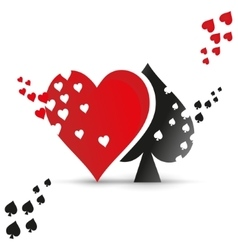 Playing card suit logo vector image vector image