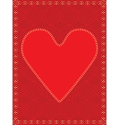 red valentine vector image vector image