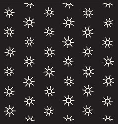 Seamless sunburst shapes freehand pattern vector
