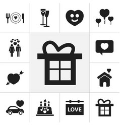 set of 12 editable amour icons includes symbols vector image vector image