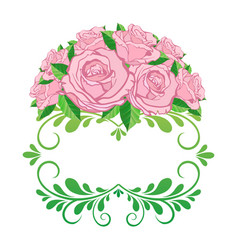 vintage floral frame element for design retro vector image vector image