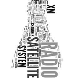 Xm satellite radio system text word cloud concept vector