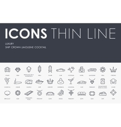 Luxury thin line icons vector