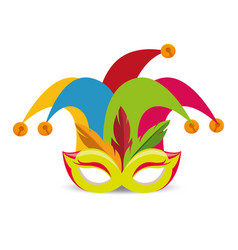 Harlequin hat funny icon vector