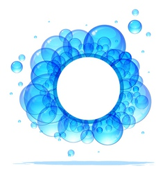 Banner of the beautiful transparent blue bubbles vector image
