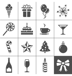 Holidays and event icons vector