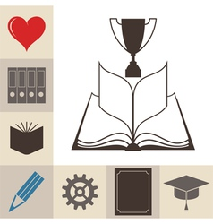 Book education knowledge vector