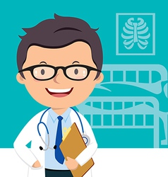 Confident medical doctor vector image