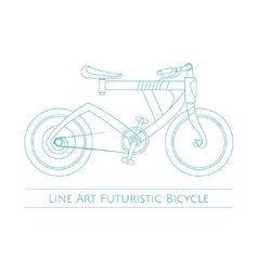 Line art futuristic bicycle vector