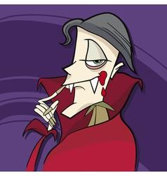 Cartoon of funny vampire vector