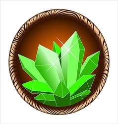 Icon crystal vector
