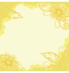 Floral background dahlia vector