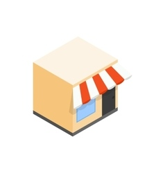 Cafe icon isometric 3d style vector