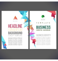 Abstract template design brochure vector