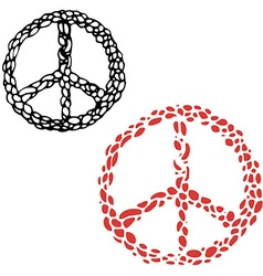Hippie sign Peace sign vector image