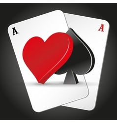 Poker symbols and cards vector