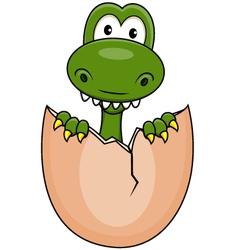 Funny dinosaur born vector image