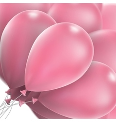 Pink glossy balloons eps 10 vector