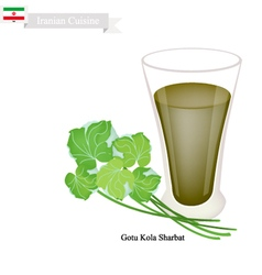 Gotu kola sharbat or iranian gotu kola drink vector